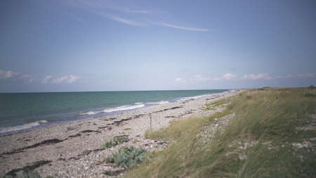 View of the sand beach on the island Fehmarn on Baltic sea