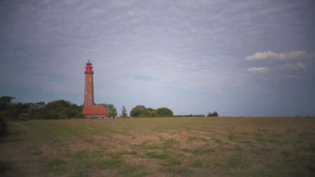 Lighthouse Fluegge on the island of Fehmarn in the baltic sea of Germany Banco de Imagens