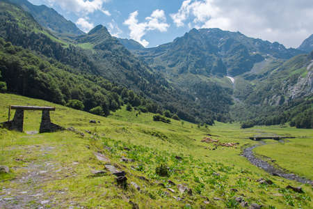Huge and beautiful Pyrenees landscape during summer