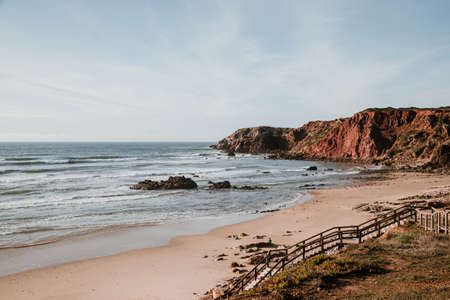 Picture taken on the vicentine coast in Portugal, in the sea with its cliffs.