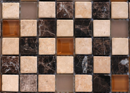 Mix stone and glass mosaic photo