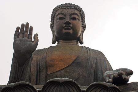 Famouse Big Buddha on Lantau Island, Hong Kong(China) photo