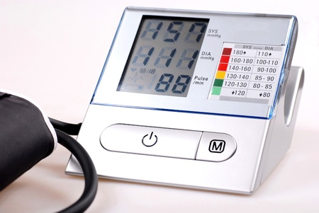 hypertensive: A digital tonometer Stock Photo