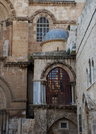 golgotha: famous church  in Jerusalem (Israel) with Golgotha and  Jesus grave