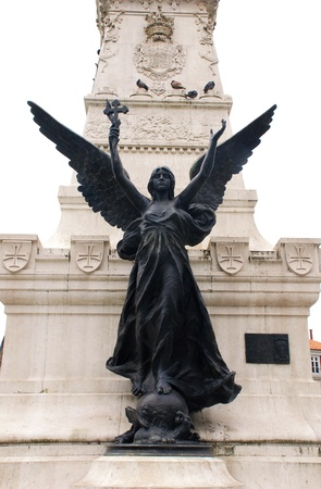 Simbol of Portugal Imperia - statue of angel with cross(Portugal) Banque d'images