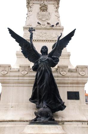 Simbol Portugalii Imperia - posÄ…g anioÅ'a z krzyżem (Portugalia) Zdjęcie Seryjne - 10880702
