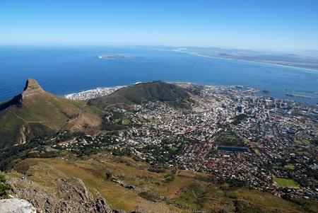 allgemeinen Blick auf Kapstadt und die Table Bay (Südafrika) Standard-Bild