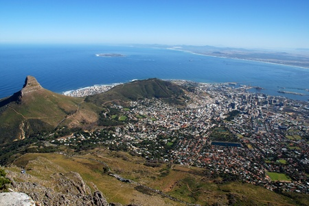 general view of Capetown and Table Bay(South Africa)