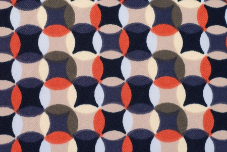 Geometric retro pattern textile with circles in 70s style. Great for backgrounds. photo
