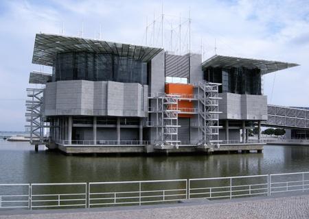 oceanarium: famous contemporary oceanarium in Park Nations (Lisbon,Portugal)
