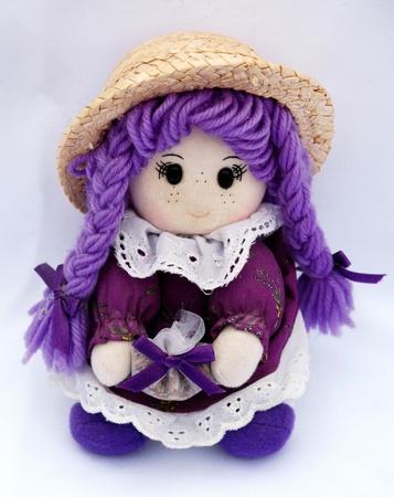 Французская Национальная кукла в фиолетовый цвет