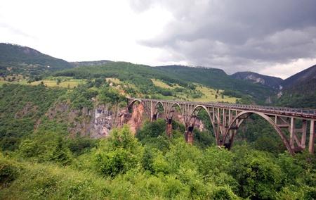 hill of tara: Legendary Djurdjevica Tara bridge over Tara