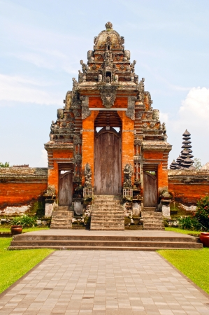 Taman Ayun Temple in Mengwi (Bali, Indonesia). Originally dated from 1634. Vertical image photo