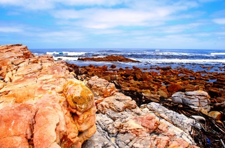 scenic seascape with sky, rocks and Atlantic ocean near Cape of Good Hope(South Africa) Stock Photo - 15874290