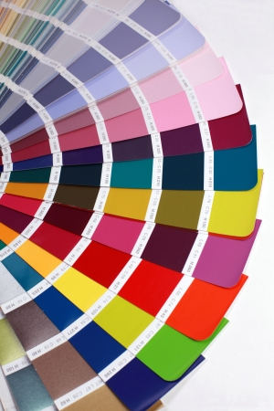 open RAL pantone sample colors catalogue Stock Photo