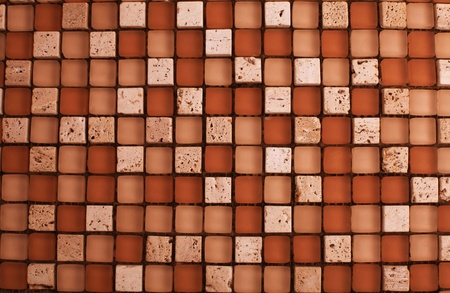 Mix stone and glass mosaic in brown and beige colors Stock Photo - 16100944