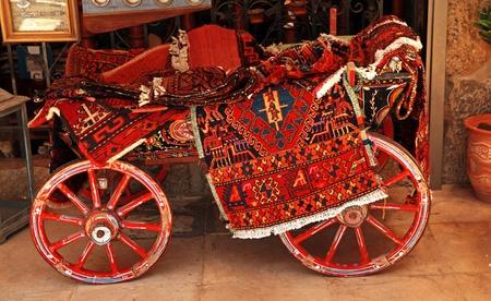 Turkish homemade carpet store on arabic bazaar  photo