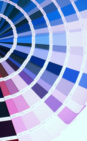 ral: open RAL pantone sample colors catalogue Stock Photo