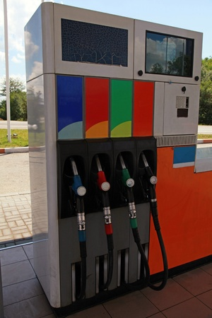 Colorful fuel pump at gas station Stock Photo - 17000792
