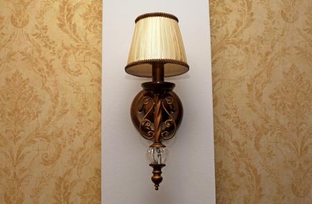 wall sconce: Aplique cl�sico en la pared Foto de archivo