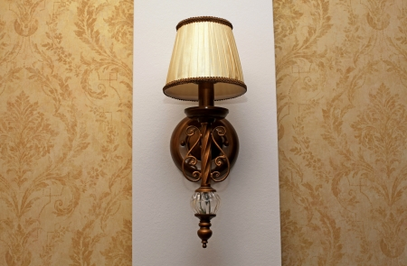 Classic sconce on the wall photo