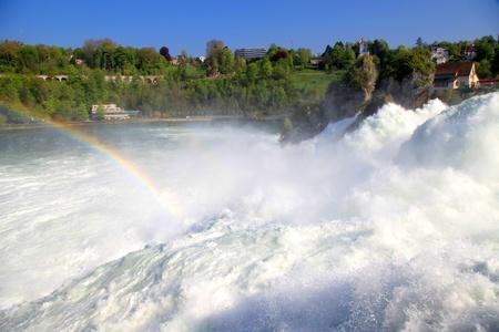 wasser: Famous Rhein Falls - the biggest waterfall in Europe  Schaffhausen, Switzerland