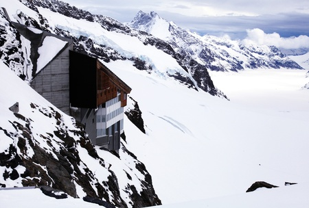 monch: Jungfraujoch - is the high point in Swiss Alps. The highest railway station in Europe is located 3,454 meters above sea level.