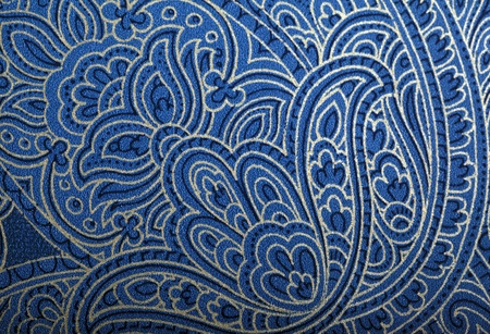 Vintage blue and gold wallpaper with vignette oriental pattern Stock Photo - 21003079