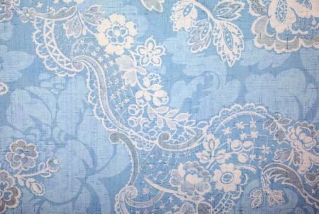 Vintage blue wallpaper with vignette victorian pattern photo