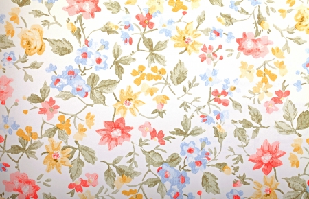 Vintage provance wallpaper with floral pattern Stock Photo - 21599536