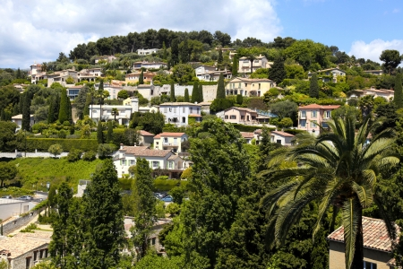 Beautiful landscape near the village Saint-Paul-de-Vence , Provence, South France. photo