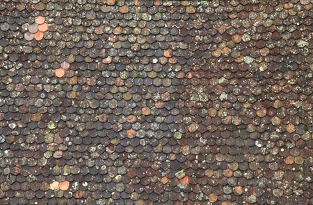 Old brown tile roof background, great for texture photo