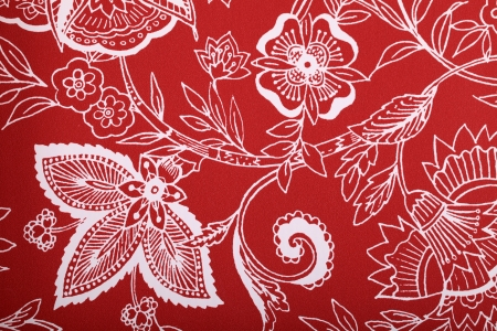 Red vintage wallpaper with white vignette victorian pattern Stock Photo - 23026964