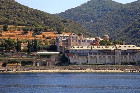 monastic sites: Xenophontos Monastery, Athos Peninsula, Mount Athos, Chalkidiki, Greece