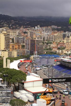 MONTE CARLO, MONACO - MAY 15  Monaco streets before the races of Formula 1 Grand Prix de Monaco at May 15, 2013 in Monte Carlo, Monaco