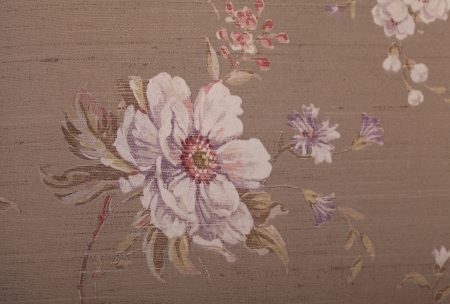 Vintage brown wallpaper with violet floral victorian pattern Stock Photo - 23928178