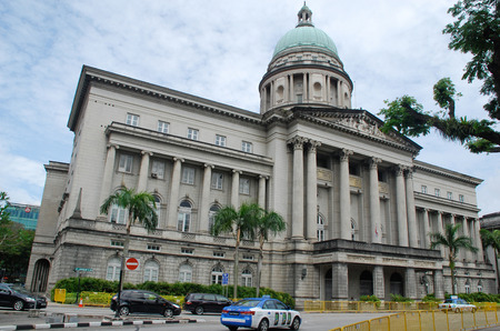 singapore culture: SINGAPORE, SINGAPORE - DEC 28:  Supreme Court at December 28,2010 in Singapore. The building was the last structure in the style of classical victorian architecture to be built in the former British colony.  Editorial
