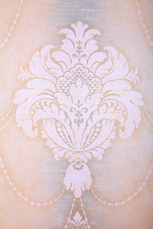 victorian wallpaper: Vintage wallpaper background with beige vignette victorian pattern Stock Photo