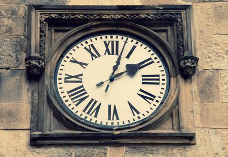 Medieval clock in Prague, Czech Republic photo