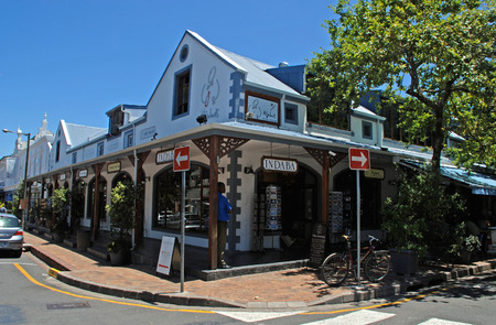 STELLENBOSCH, SOUTH AFRICA - DECEMBER 31, 2007: African gift shops in Stellenbosch, Western Cape Province, South Africa. Stellenbosch is  the most scenically attractive and historically preserved town in Southern Africa.