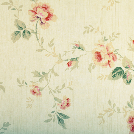 Vintage victorian wallpaper with floral pattern, square image Stok Fotoğraf