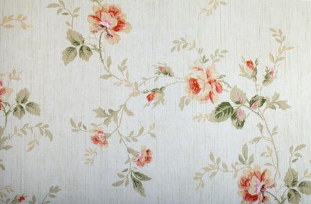 花柄ヴィンテージ ビクトリアン壁紙 写真素材