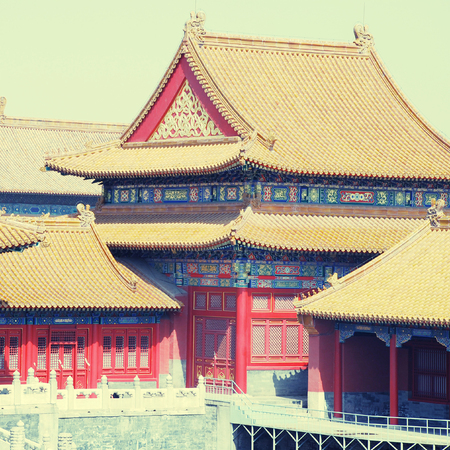 Temples of the Forbidden City in Beijing, China
