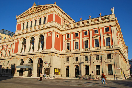 beethoven: VIENNA, AUSTRIA - OCTOBER 17, 2008: The Wiener Musikverein (English: Viennese Music Association) is a famous concert hall in Vienna, Austria. It was built in 1870. Editorial