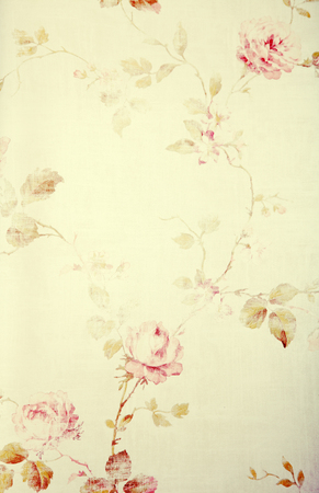 vintage victorian wallpaper with pastel rose floral pattern, toned image, instagram effect photo