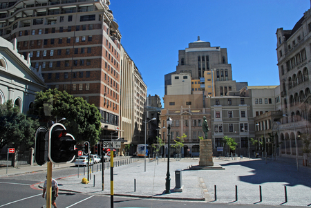 CAPE TOWN,SOUTH AFRICA-DECEMBER 28, 2007:Urban streets with contemporary buildings and hotels in Cape Town, South Africa. Cape Town is provincial capital of the Western Cape.