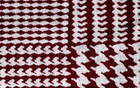 Scotland Classic Red And White Houndstooth Pattern Textile