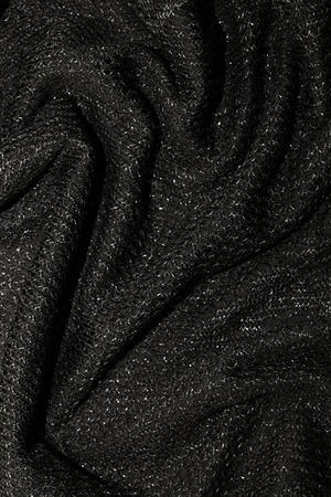black metallic background: black metallic fabric pattern texture fashion background, vertical image Stock Photo