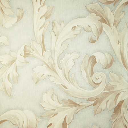 Vintage grey victorian wallpaper with beige baroque vignette. Square toned image, instagram effect photo