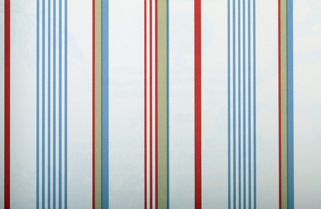 nautic: vintage white striped wallpaper with red and blue strips
